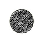 Linear Black And White Ethnic Print Hat Clip Ball Marker (4 pack) Front