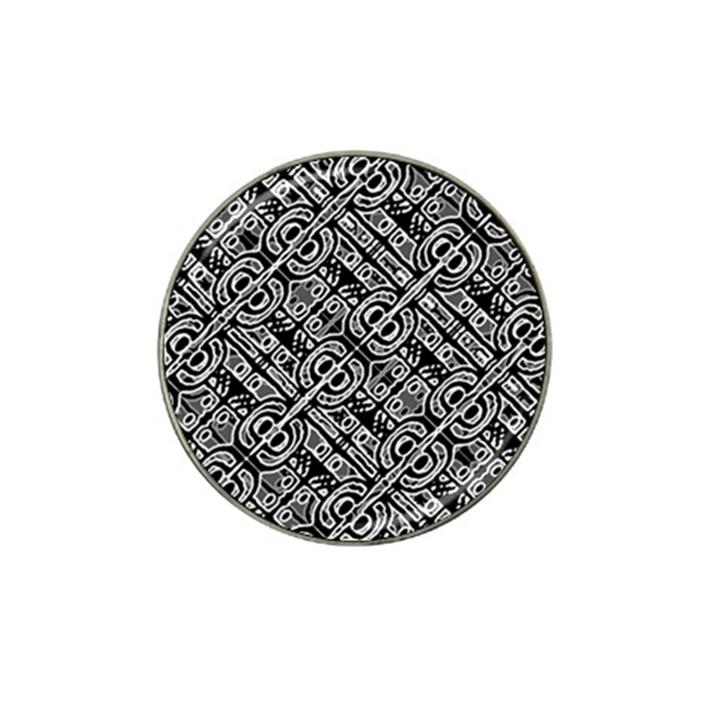 Linear Black And White Ethnic Print Hat Clip Ball Marker (4 pack)