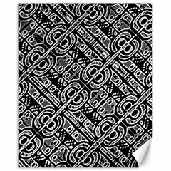 Linear Black And White Ethnic Print Canvas 16  X 20  by dflcprintsclothing