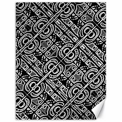 Linear Black And White Ethnic Print Canvas 18  X 24  by dflcprintsclothing