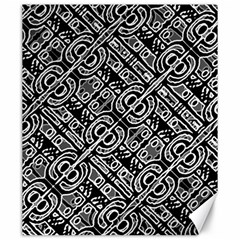 Linear Black And White Ethnic Print Canvas 20  X 24  by dflcprintsclothing