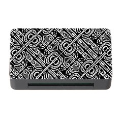 Linear Black And White Ethnic Print Memory Card Reader With Cf