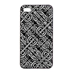 Linear Black And White Ethnic Print Iphone 4/4s Seamless Case (black)