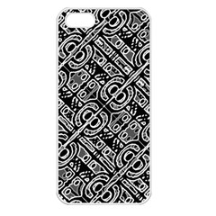 Linear Black And White Ethnic Print Iphone 5 Seamless Case (white)