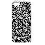Linear Black And White Ethnic Print iPhone 5 Seamless Case (White) Front