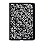 Linear Black And White Ethnic Print Apple iPad Mini Case (Black) Front