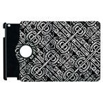Linear Black And White Ethnic Print Apple iPad 3/4 Flip 360 Case Front