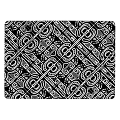 Linear Black And White Ethnic Print Samsung Galaxy Tab 10 1  P7500 Flip Case