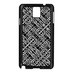 Linear Black And White Ethnic Print Samsung Galaxy Note 3 N9005 Case (black)