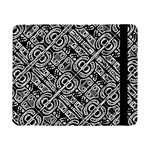 Linear Black And White Ethnic Print Samsung Galaxy Tab Pro 8.4  Flip Case Front
