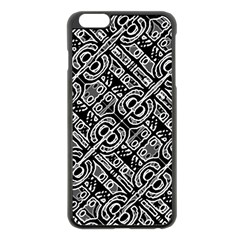 Linear Black And White Ethnic Print Iphone 6 Plus/6s Plus Black Enamel Case by dflcprintsclothing