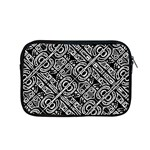Linear Black And White Ethnic Print Apple MacBook Pro 15  Zipper Case Front