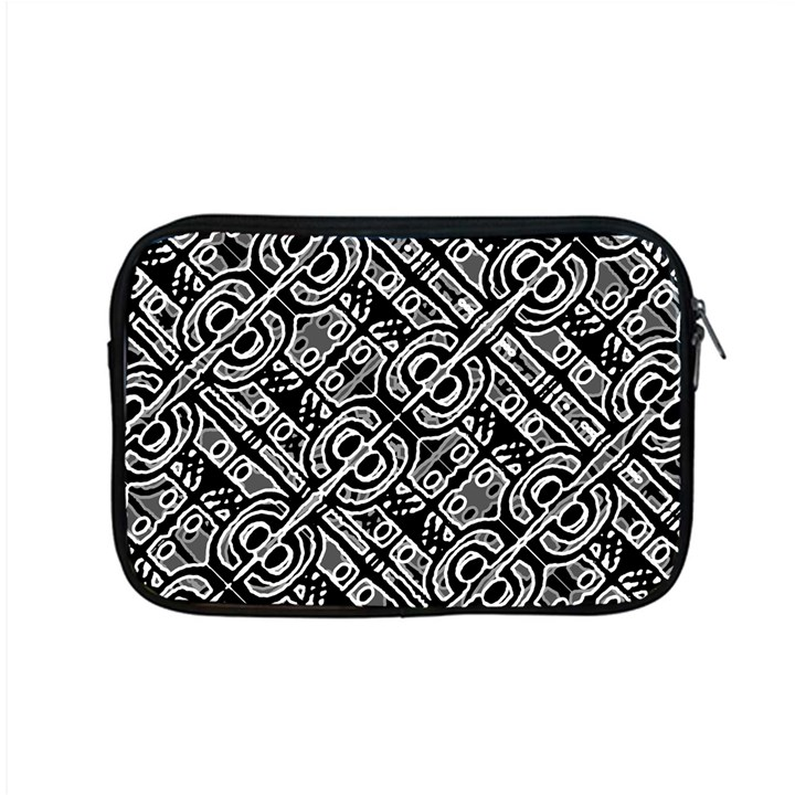 Linear Black And White Ethnic Print Apple MacBook Pro 15  Zipper Case