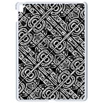 Linear Black And White Ethnic Print Apple iPad Pro 9.7   White Seamless Case Front