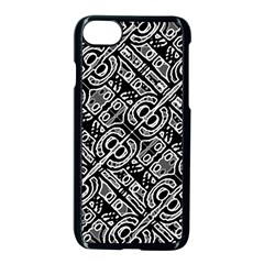 Linear Black And White Ethnic Print Iphone 8 Seamless Case (black) by dflcprintsclothing