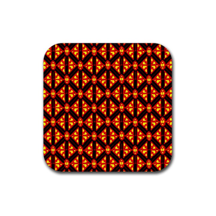 Rby-189 Rubber Square Coaster (4 pack)