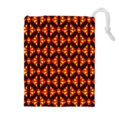 Rby-189 Drawstring Pouch (xl) by ArtworkByPatrick