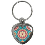 Mandala Key Chain (Heart) Front