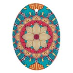 Mandala Oval Ornament (Two Sides) Front