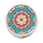 Mandala 4-Port USB Hub (Two Sides) Front