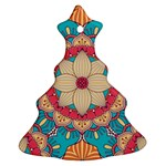 Mandala Christmas Tree Ornament (Two Sides) Front