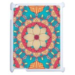 Mandala Apple iPad 2 Case (White) Front