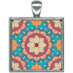 Mandala Square Necklace Front