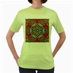 Mandala Women s Green T-Shirt Front