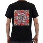 Mandala Men s T-Shirt (Black) (Two Sided) Back