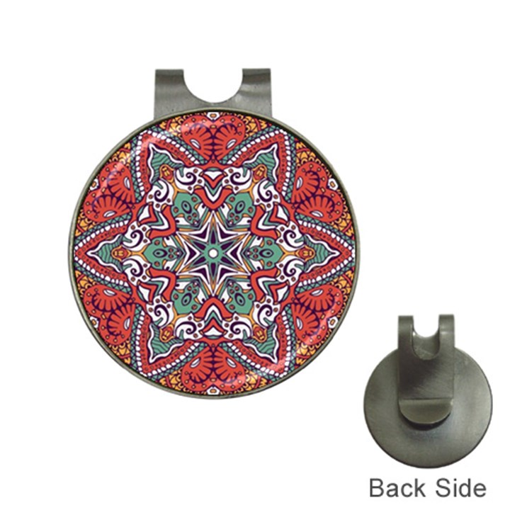 Mandala Hat Clips with Golf Markers