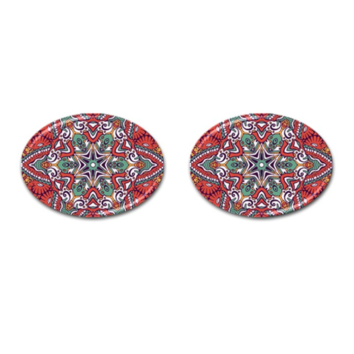 Mandala Cufflinks (Oval)