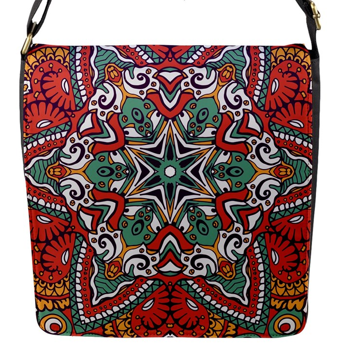 Mandala Flap Closure Messenger Bag (S)