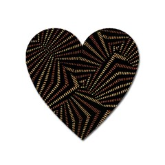 Vintage Etchnic Print Heart Magnet by dflcprintsclothing