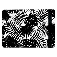 Black And White Tropical Leafs Pattern, Vector Image Samsung Galaxy Tab Pro 12 2  Flip Case by Casemiro