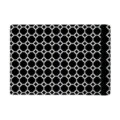 Pattern Abstrait Ronds Noir Apple Ipad Mini Flip Case by kcreatif