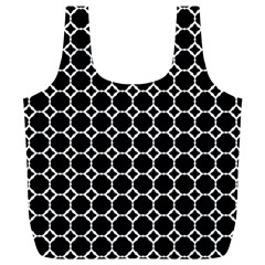 Pattern Abstrait Ronds Noir Full Print Recycle Bag (xl)