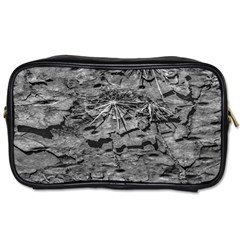 Black And White Texture Print Toiletries Bag (two Sides)
