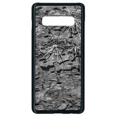 Black And White Texture Print Samsung Galaxy S10 Plus Seamless Case (black)