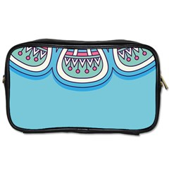 Blue Mandala Toiletries Bag (two Sides)