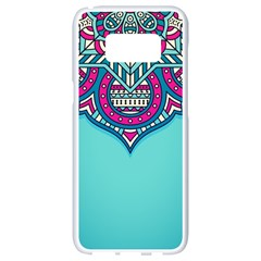 Blue Mandala Samsung Galaxy S8 White Seamless Case