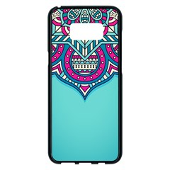 Blue Mandala Samsung Galaxy S8 Plus Black Seamless Case