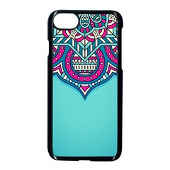 Blue Mandala Iphone 8 Seamless Case (black)