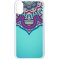 Blue Mandala Iphone X Seamless Case (white)