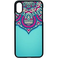 Blue Mandala Iphone X Seamless Case (black)