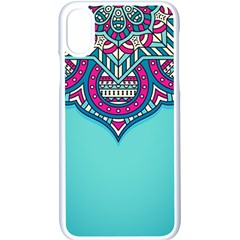 Blue Mandala Iphone Xs Seamless Case (white)