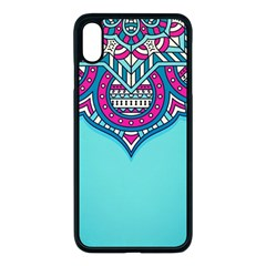 Blue Mandala Iphone Xs Max Seamless Case (black)