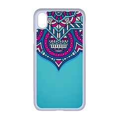 Blue Mandala Iphone Xr Seamless Case (white)
