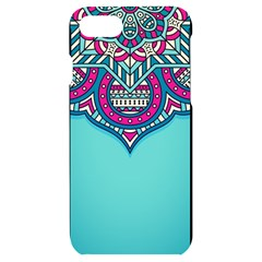 Blue Mandala Iphone 7/8 Black Uv Print Case