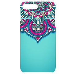 Blue Mandala Iphone 7/8 Plus Black Uv Print Case