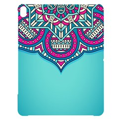 Blue Mandala Apple Ipad Pro 12 9   Black Uv Print Case